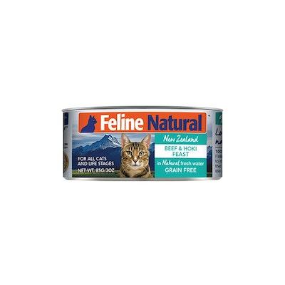 FELINE NATURAL Canned Beef & Hoki 85G