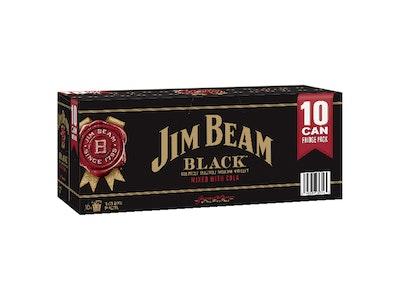 Jim Beam Black & Cola 5% Can 375mL 10 Pack