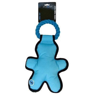 ScreamPet Scream Cross Ropes Tug Man Nylon Dog Toy 35cm - 4 Colours