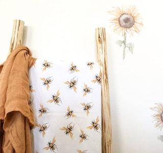 Grubbee Honey Bee Swaddle Blanket