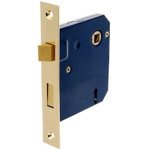 Brava Urban 2 Lever Mortice Door Lock 60mm Backset Polished Brass BR9400PB