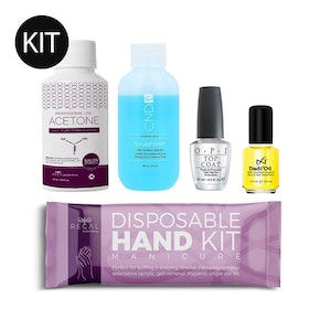 Manicure Nail Kit | Hand Kit Cuticle Oil Top Coat Cleanser Polish Remover