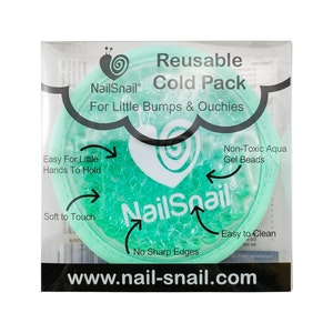 Nail Snail Reusable Cold Pack for little bumps and ouchies