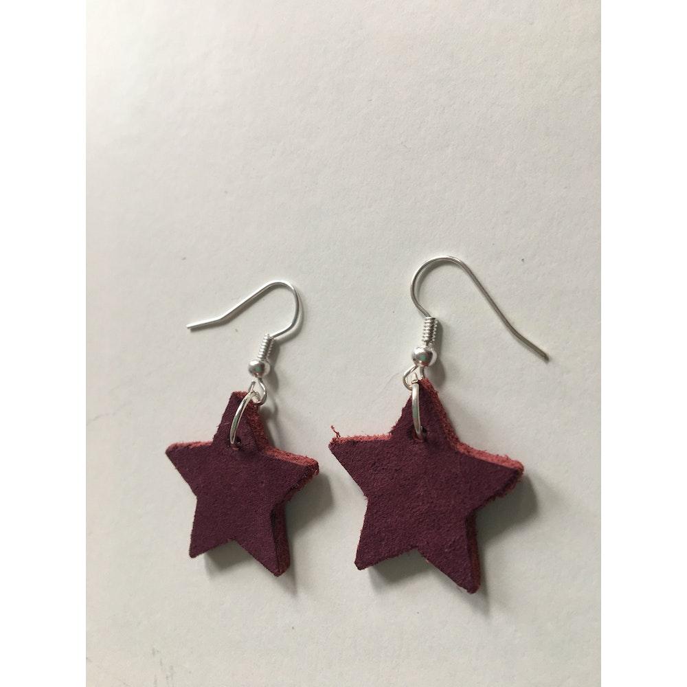 One of a Kind Club Burgundy Star Earrings