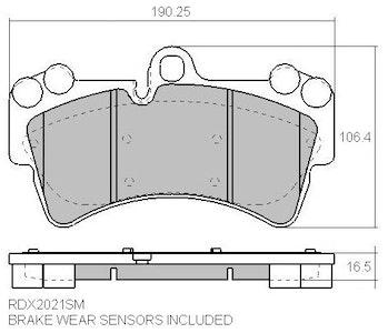 RDA FULL SET EXTREME BRAKE PADS for PORSCHE CAYENNE GTS 4.8L 3/2008-6/2010