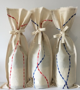 by G  by JoVe - Earth Friendly Fabric Gift Wrap Bag - Wine Surprise TRIO bundle