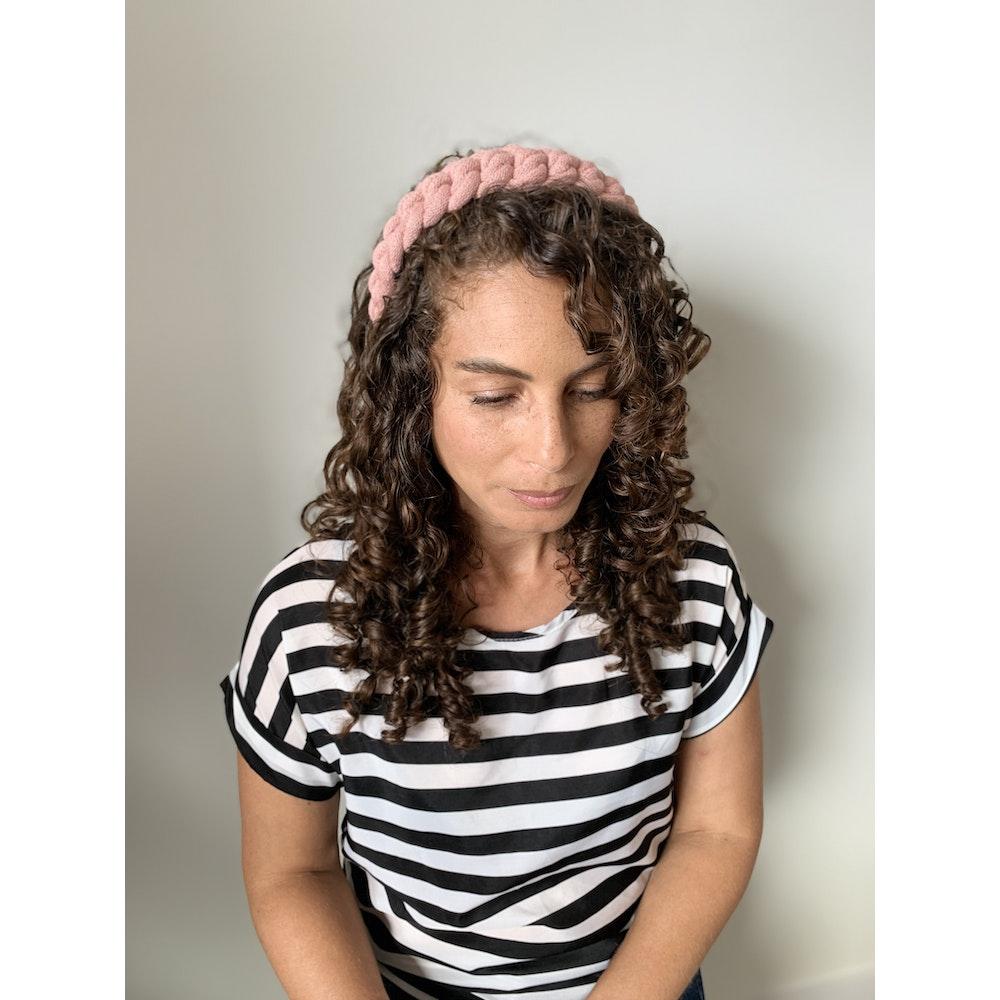 Form Norfolk Chunky Loop Knot Headband In Blush Pink