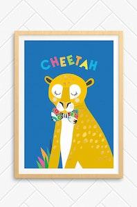 'Cheetah' Unframed Print - A4 Size