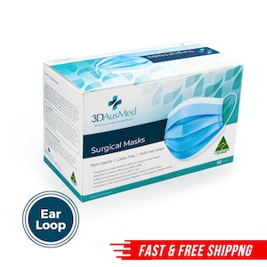Level 3 Surgical Mask - Ear loop - 50 pack