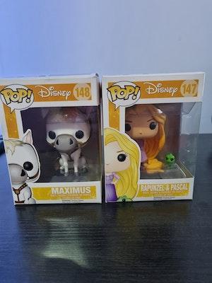 Rapunzel & Maximus Funko Pops - Tangled