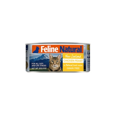 FELINE NATURAL Canned Chicken Feast 85G