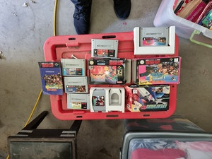 Assortment of snes and n64 games