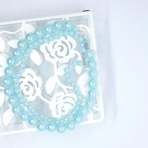 Rayhana's Store Sydney Aquamarine Pearl Double Strand Necklace (2 piece)