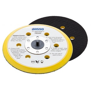 """Hook & Loop Backing Pad 6""""/150mm Dust Free Ext 5/16"""" UNF F6565"""