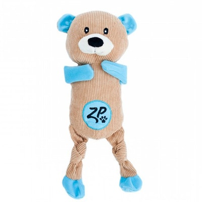 Zippy Paws Corduroy Cuddlerz Bear Plush Dog Squeaker Toy 41 x 12.5cm