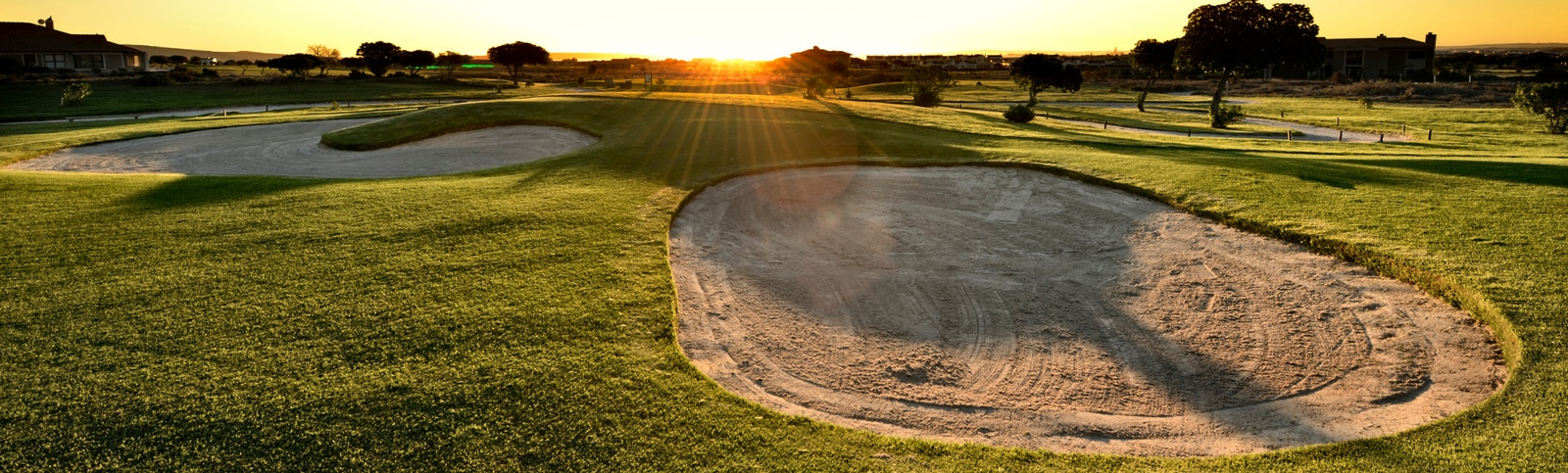 Become a Member web banner golf course with sunset