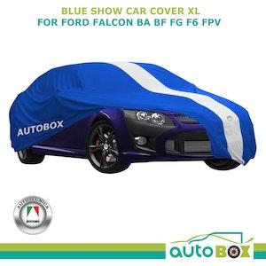 Blue X-Large Show Car Cover Washable fits Ford BA BF FG F6 FPV Softline