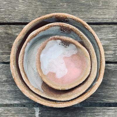Memory Box Nibbler Nesting Bowl Set in Hot Chocolate (x3 bowls)