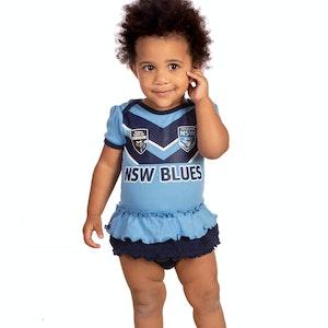 Ashtabula NSW Blues Girls Footysuit