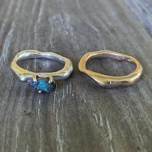 Twig ring Boulder opal Set
