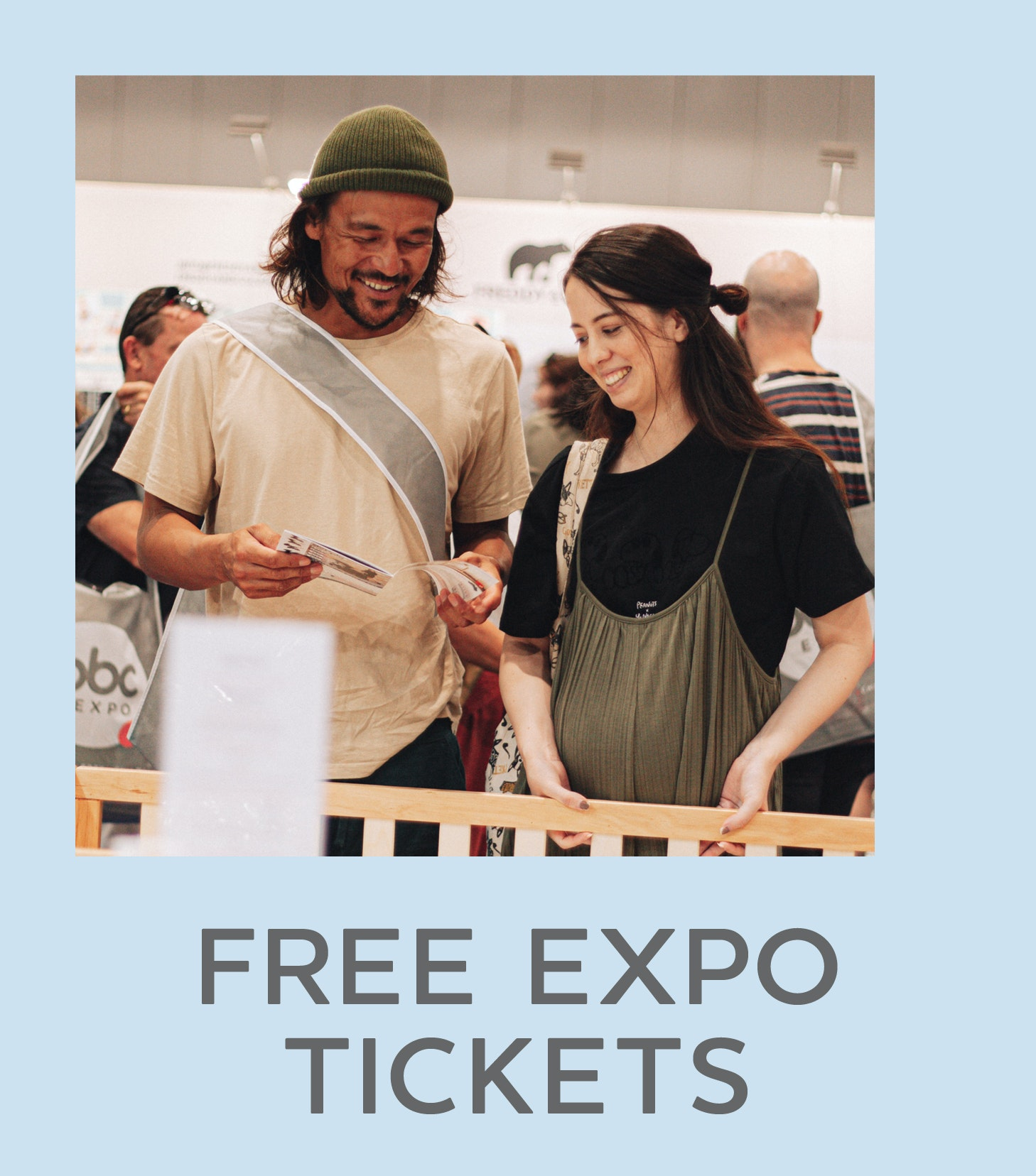 text that reads Register for FREE Expo Tickets