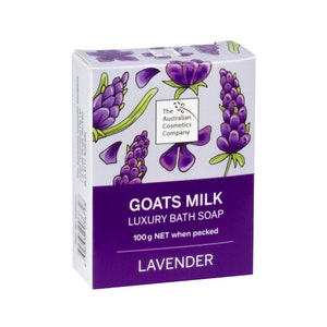 The Australian Cosmetics Company Goats Milk Bath Soap Lavender 100g Boxed
