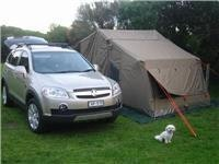 Look what I did  Chloe has finished setting up OzTent camp
