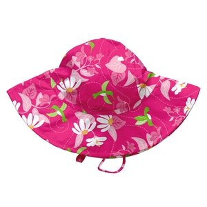 i play. Tropical Brim Sun Protection Hat-Fuchsia Hummingbird