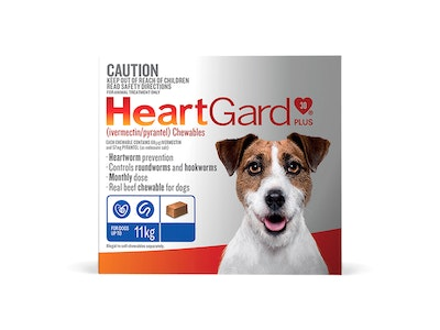 Heartgard Plus Dog Small Up To 11kg Blue