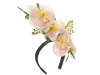 Jenny's Original Designs Cream with Salmon Pink centre Orchid Fascinator