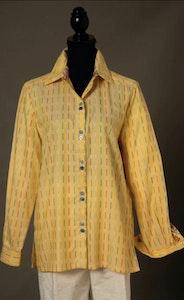 Daisy   Classic Shirt in Yellow Stripe Cotton