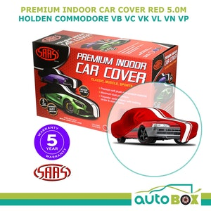 SAAS RED 5.0m SHOW CAR COVER INDOOR DUST Holden Commodore VB VC VK VL VN VP