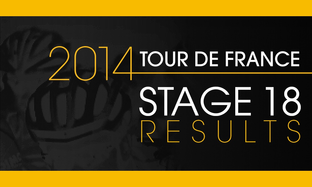 Nibali's 4th Win - Stage 18 Results
