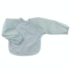 Silly Billyz Small Long Sleeve Dusty Blue Towel Bib