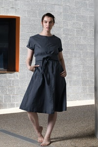 Quillan Clay Dress - Charcoal