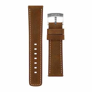 Bausele Oceanmoon IV Strap - Brown Leather - 22mm