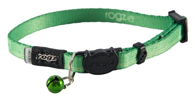 Rogz Kiddycat Safeloc Collar Lime Paws