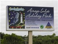 Aireys Inlet Holiday Park sign with trademark mosiac