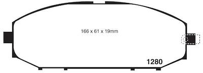 FULL SET EXTREME HD BRAKE PADS for Nissan Patrol Y61 GU 4.8L 10/2001-1/2012