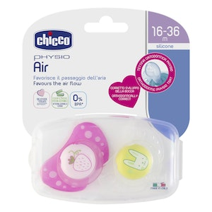 Chicco Physio Air Soother 16-36m 2pk - Girl