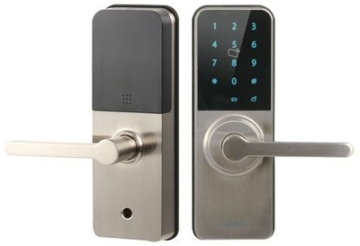Dahua BLE Digital Smart Lock, Pin Code, RFID Tag and BLE App functions in a Silver finish