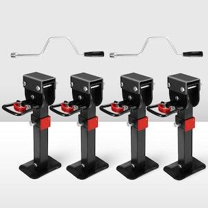 4x 400mm Corner Legs Drop Down W/Handle Steel Base 1200LBS