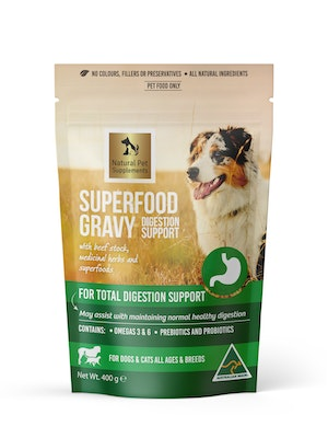 Natural Pet Supplements Digestion Support Superfood Gravy