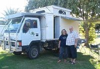 Dieter and Elvira and their 4WD camper