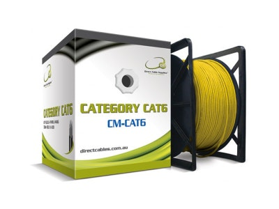 DCS 305m Cat6 Ethernet Network computer cable in yellow