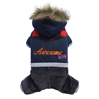 DoggyDolly SMALL DOG - Awesome Doggy Snowboarder Onesie Navy