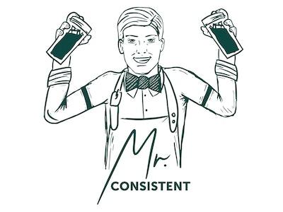 Mr Consistent Cosmo Mixer 750mL - 10 Serves