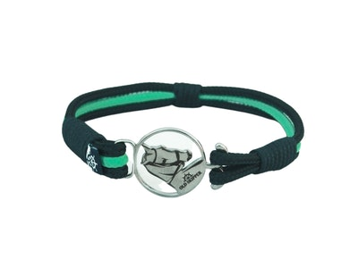 Breeze Green & Navy Rope Bracelet