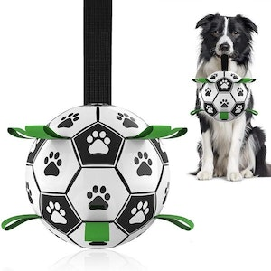 DoggyTopia Interactive Dog Soccer Ball With Grab Tabs