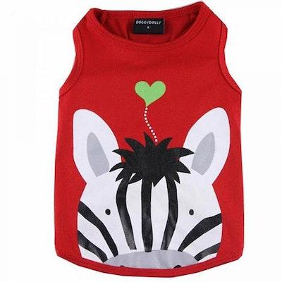 DoggyDolly SMALL DOG - Red Zebra Doggy T Shirt